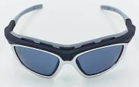 Очки спортивные солнцезащитные BC-114-2G (пластик, акрил, оправа серая)