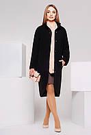 Пальто из кашемира PL-8585 черное
