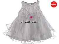 Красивое нарядное платье  для девочки 2-3 мес. код.203292