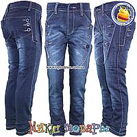 Модные джинсы с пуговицами для девочек от 6 до 11 лет (4550)