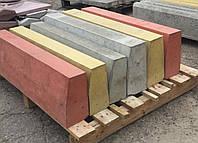 Бордюр дорожный средний 1000х250х120 желтый