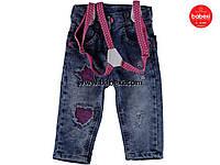 Стильные джинсы с подтяжками для детей 9,12,18,24 мес. код.203305