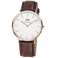 Ультратонкие часы Daniel Wellington brown