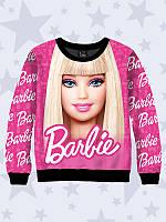 Детский реглан для девочки (свитшот, свитер, водолазка, джемпер)  Barbie