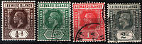 Leeward Islands 1912-1914 Sc#46-49 USED