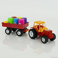 Трактор прицеп с бочонками 007/5 Бамсик