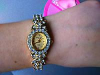 Женские элегантные часы под золото