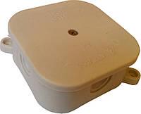 Коробки монтажные открытой установки 85х85х35мм с клеммой по углам (Р2) IP41 (кратно 10шт) 50шт/уп