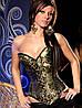 Корсет черного цвета с золотистым орнаментом