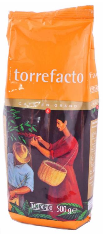 Кофе в зернах 100% арабика Hacendado 500 гр.