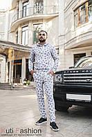 Мужской костюм М 04 аlphabet gray