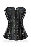 Корсет черного цвета в готическом стиле