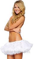 Пышная юбка белого цвета