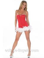Сексуальное новогоднее платье красного цвета