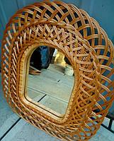 Зеркало плетеное в хол большое