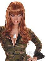 Рыжий парик с челкой