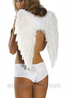 Крылья из перьев  белого цвета
