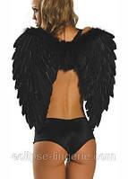 Крылья ангела черного цвета из натуральных перьев