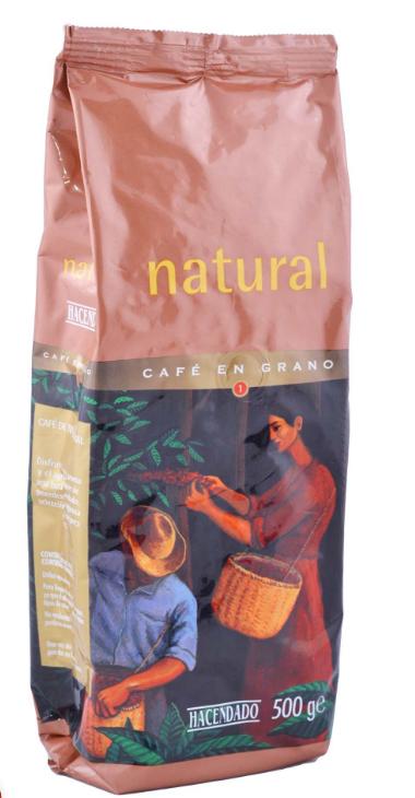 Кофе в зернах Natural Hacendado 500 гр.