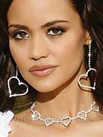 Сияющее ожерелье с сердечками