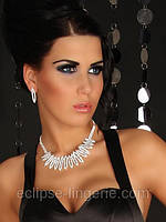 Шикарное ожерелье со стразами