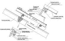 Монтажная система Heliomax для 1коллектора 2м2 на скатной кровле.