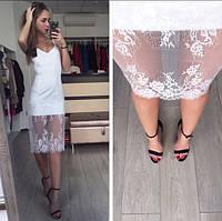 Платье комбинация в белом цвете