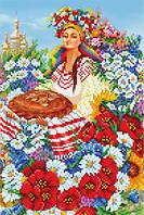 """Схема для вишивки бісером """"А я просто українка, україночка!"""""""