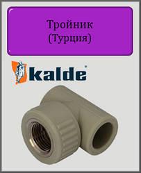 "Тройник Kalde 40х1 1/4"" РВ полипропилен"