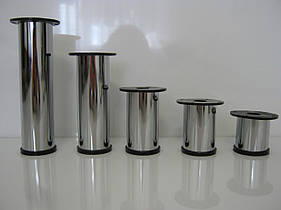 Мебельная опора, ножка H100 мм D50 мм, хром
