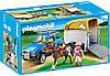 Конструктор Playmobil 5223 Джип с трейлером для перевозки лошадей