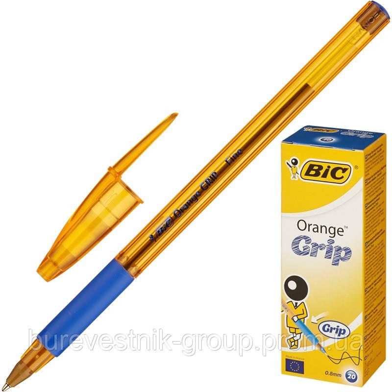 """Упаковка ручек шариковых масляных BIC """" Orange Grip"""" ( 20шт. ), синяя"""