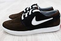 Кроссовки Nike замшевые коричневые