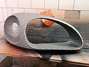Фары ланос под карбон аквапечать