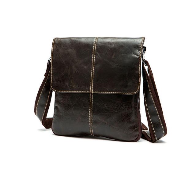 Мужская кожаная сумка через плечо Marrant   коричневая