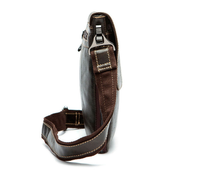 Мужская кожаная сумка через плечо Marrant | коричневая