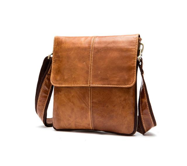 Мужская кожаная сумка через плечо Marrant   светло-коричневая