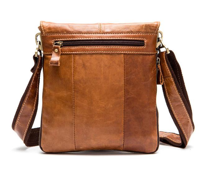 Мужская кожаная сумка через плечо Marrant | светло-коричневая