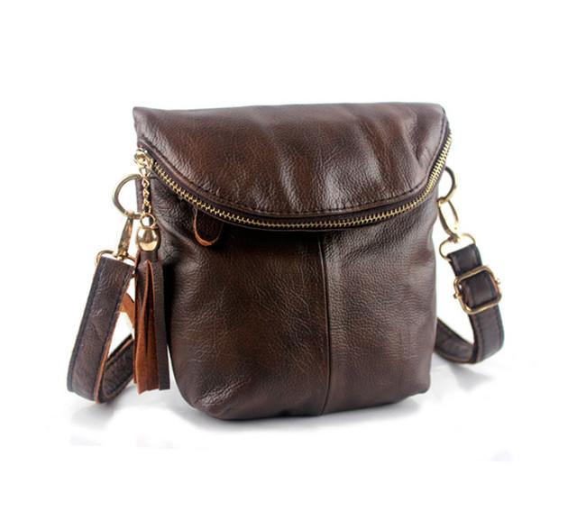 Женская кожаная сумка через плечо Marrant   коричневая