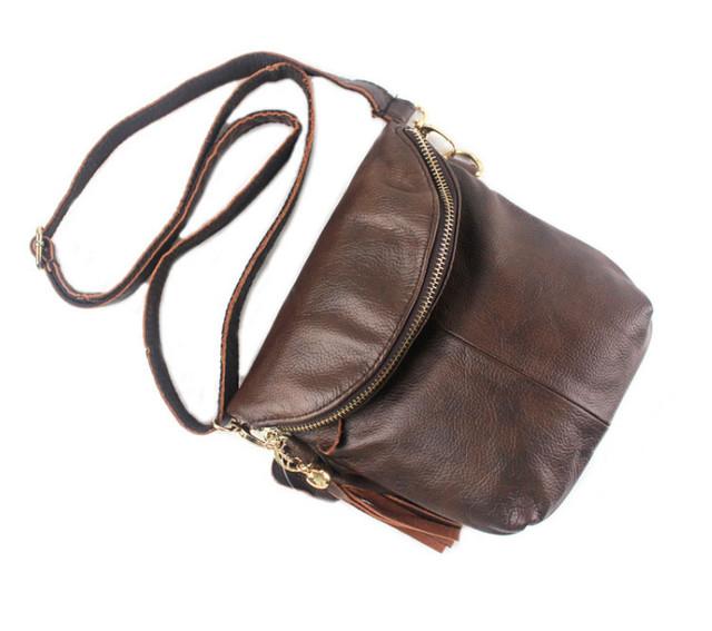 Женская кожаная сумка через плечо Marrant | коричневая
