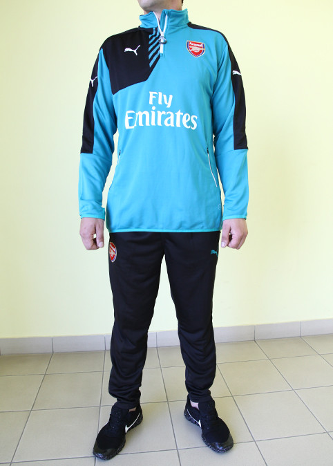 cb8123c060c5 Мужской спортивный костюм Puma 822330-08 ARSENAL бирюза с чёрным код 352б