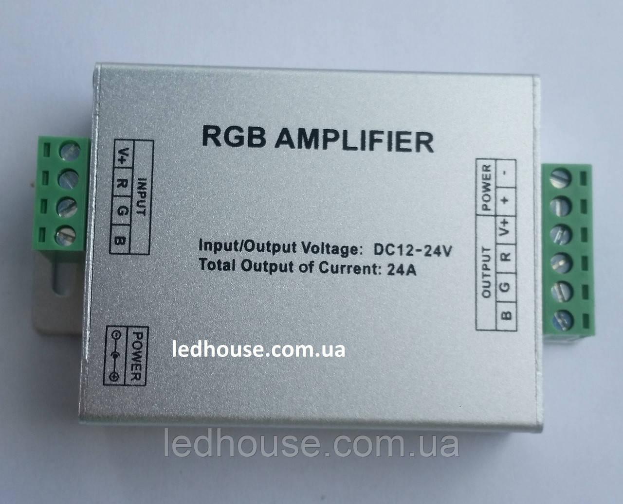 RGB-усилитель -24A (12/24V, 288/576W) 8A на канал