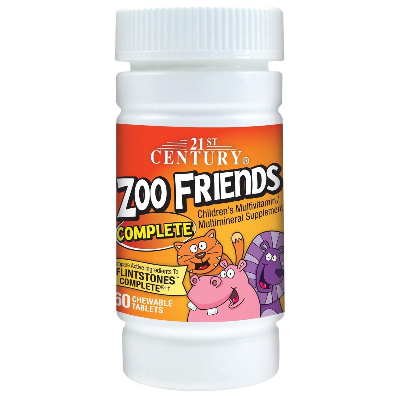 21st Century Health Care, Zoo Friends, complete витамины детские жевательные 60 шт