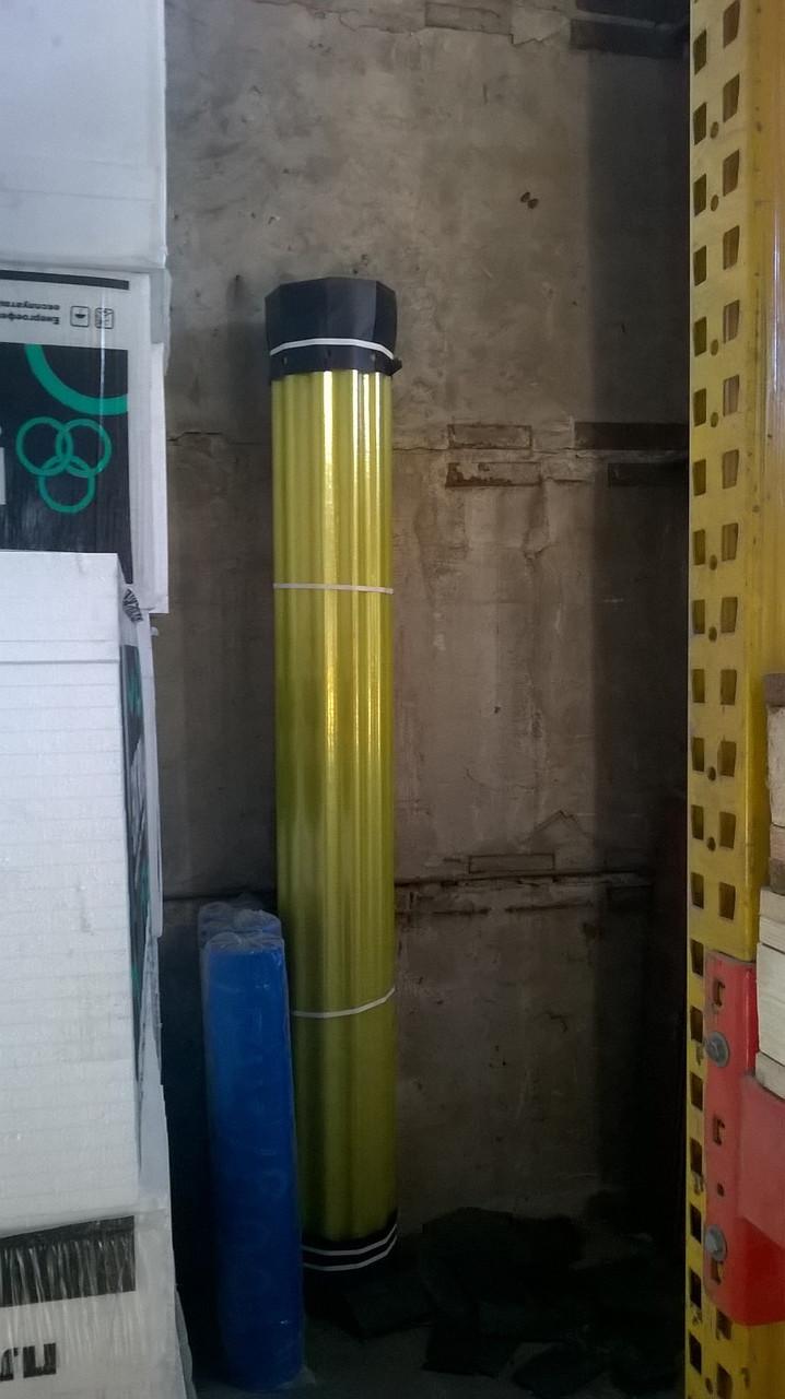Шифер пластиковый армированный прозрачный в рулонах Volnoplast желтый 2м*20м