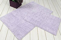 Набор ковриков для ванной  IRYA хлопок 60х100+45х60  JASMINE сиреневый