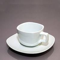 Alt Porcelain Чашка с блюдцем квадратная фарфоровая (180мл)