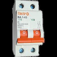 Выключатель автоматический ВА1-63 2п 16A  4,5кА  х-ка С