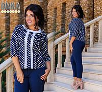 Блузка женская большие размеры (цвета) /с1221, фото 1