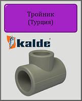 Тройник Kalde 75х50х75 полипропилен, фото 1