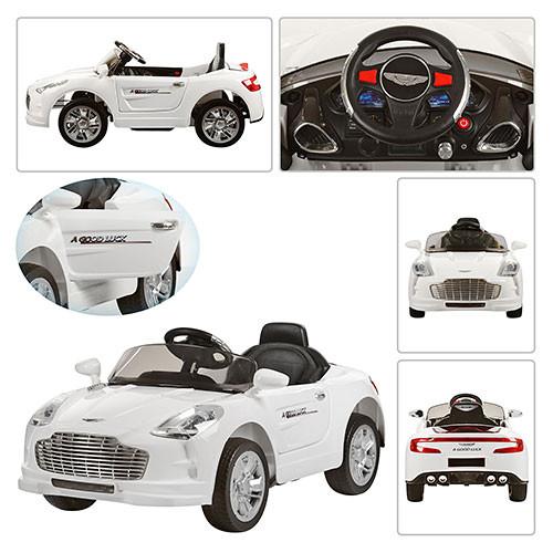 Детский электромобиль ASTON MARTIN M 2774 EBR: 3-7км/ч, 2,4G, EVA-колеса- Белый- купить оптом